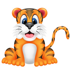 Tiger with a cute smile
