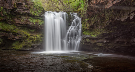 Printed roller blinds Waterfalls Sgwd Ddwli Isaf waterfalls on the river Neath, south wales