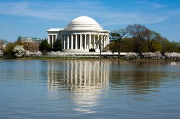Foto op Canvas Kersenbloesem Jefferson Memorial