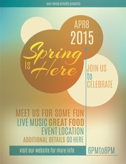 Live music festival spring poster or flyer design template