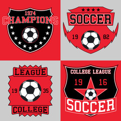 Soccer logo typography, t-shirt graphics. Vector illustration