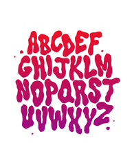 Abstract font. Vector alphabet