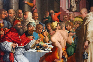 giorgio vasari, dinner of st gregory