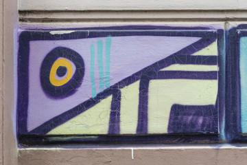 Buntes Graffiti an der Wand