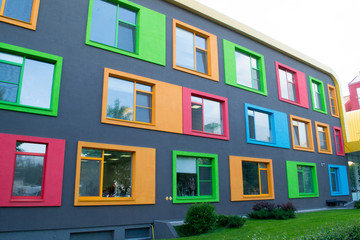 Colorful facade of building Fototapete