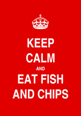 eat fish and chips poster