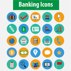 Banking icon set vector.