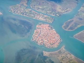 Vue aérienne de Venise
