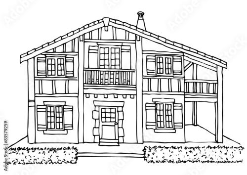 Plan Maison Basque : Plan maison basque traditionnelle ventana