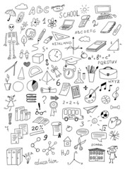 hand drawn education vector set