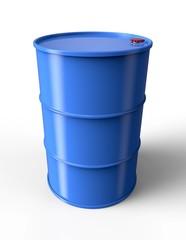 Blue oil drum