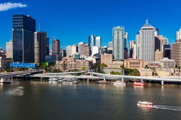 BRISBANE, AUSTRALIA-DECEMBER 29 2013:View of Brisbane from South
