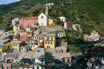 Central square of Vernazza, Cinque Terre, Italiy