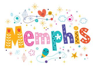 Memphis decorative type lettering text design