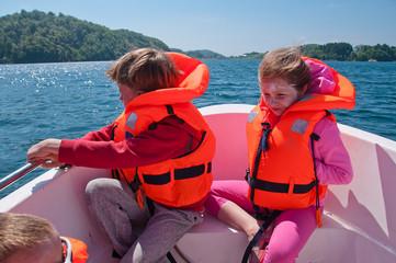 Kids in a boat