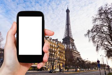 tourist photographs of quai branly in Paris