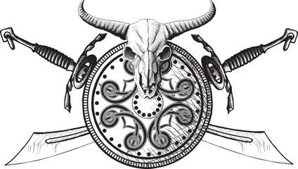 The emblem of the Viking