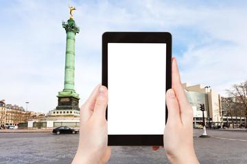 tourist photographs of Place de la Bastille Paris
