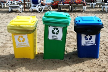 Reciclar en la playa
