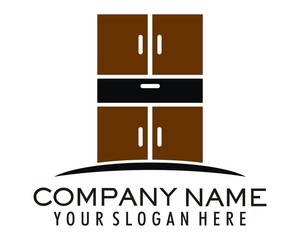 wooden furniture logo image vector