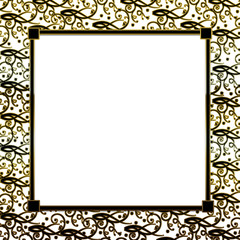 Fancy Decorative square Background - Gold,Black,White Insert