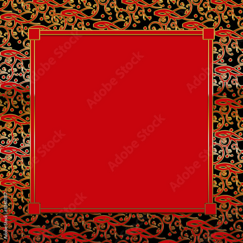 quotfancy decorative square background redblackgold red