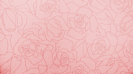 Retro Pink Rose Pattern Fabric Background Texture