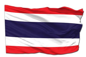 Thai waving flag