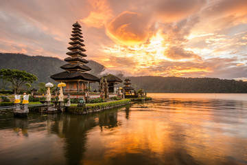 Self adhesive Wall Murals Indonesia Pura Ulun Danu Bratan at Bali, Indonesia