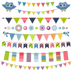 Garland and bunting set