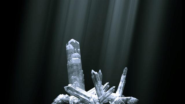quartz crystal clusters
