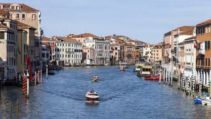 VENICE. View of the Grand channel (Canal Grande)