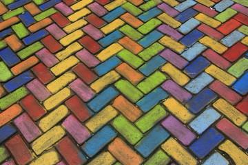 Colored pavement