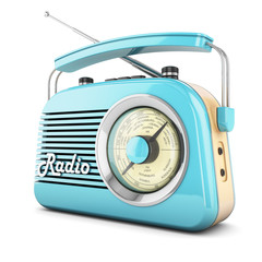 Retro radio blue