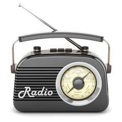 Retro radio black front