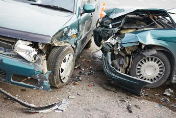 road car crash collision in urban street