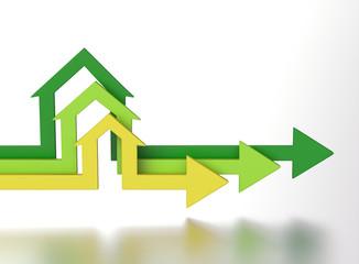 House shape arrows