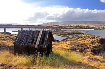 Abandoned Indian village, Columbia River gorge,   Washington state