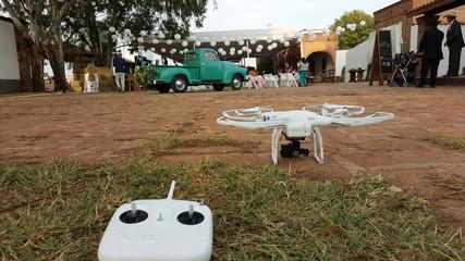 Boda con drone