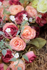 Beautiful rose of artificial flowers