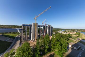 Baustellentotale Niederfinow