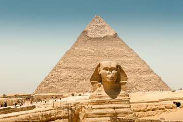 Piramide di Kefren con sfinge, Giza