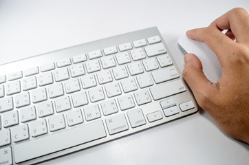 Keyboard, Mouse and Hand