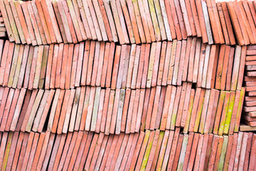 Red brick-lined sheet background and texture
