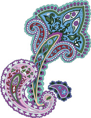 Traditional ornamental background. Paisley design