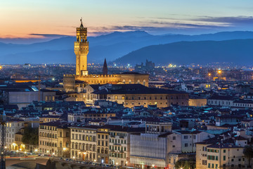 Tuinposter Florence view of Palazzo Vecchio, Florence, Italy