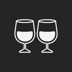 Glass cup icon