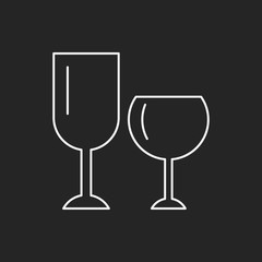 Glass cup line icon