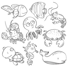 Cutie Marine Animals