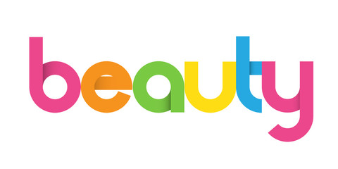 Colourful Vector Letters Icon BEAUTY